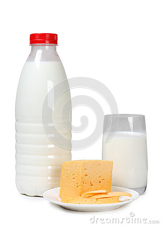 Cheese and white milk