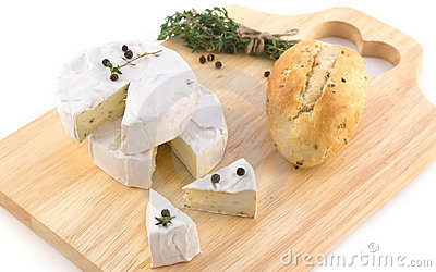 Cheese with white mold and herbs