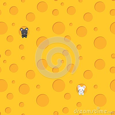 Free Cheese With Mouse Royalty Free Stock Image - 118959176