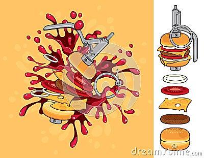 Cheeseburger flavor grenade