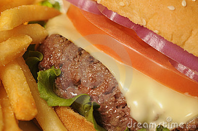 Cheeseburger & French Fries.