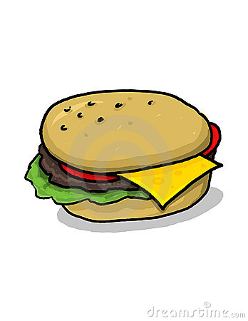 Cheeseburger illustration
