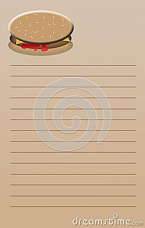 Cheeseburger Note Pad