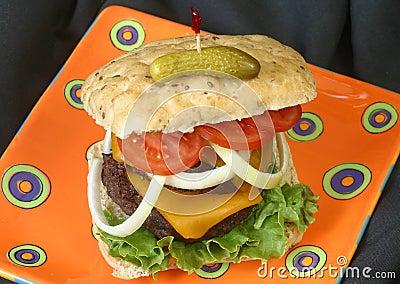 Cheeseburger, Onion, Tomato