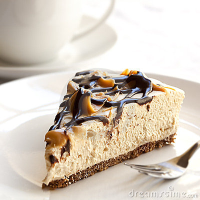 Free Cheesecake And Coffee Royalty Free Stock Image - 23535326