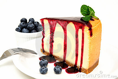 Cheesecake And Blueberries