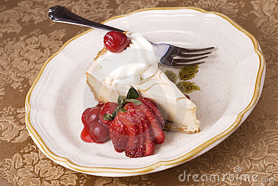 Cheesecake with Cherry Topping