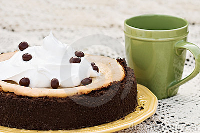 Cheesecake With Chocolate Covered Coffee Bean