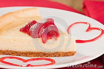 Cheesecake dessert with strawberries