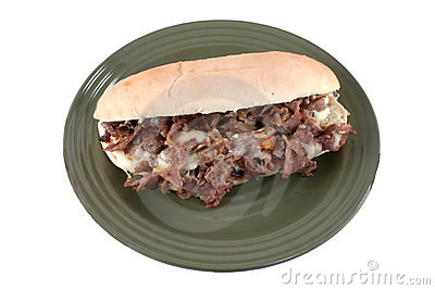 Cheesesteak on white