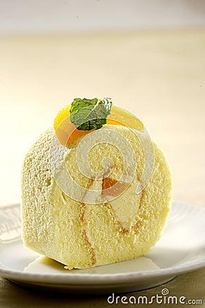 Cheesy peach Roll