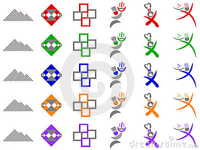 Chef and Abstract Squares Vector Logo Designs