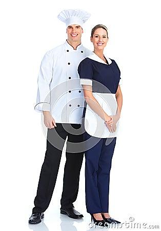 Free Chef And Waitress Stock Photos - 18548533
