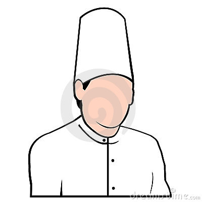 Chef avatar face vectored