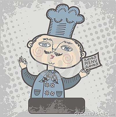 Chef avec la carte