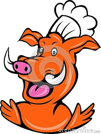 Chef baker wild pig boar hog