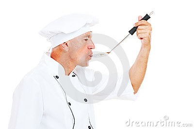 Chef with big spoon