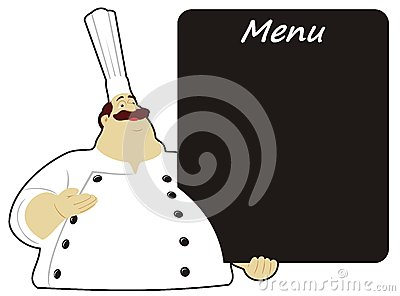 Chef with board