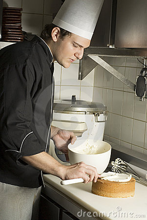 Chef with Cake
