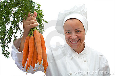 Chef with carrots