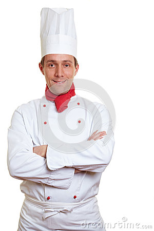 Chef cook with arms crossed