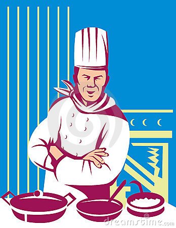 Free Chef Cook Cooking A Meal Royalty Free Stock Photo - 9753025