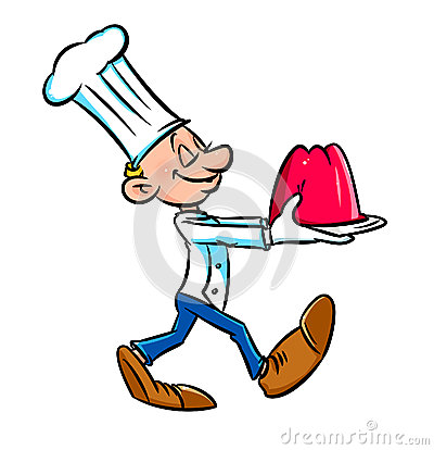 Chef cook presents jelly cartoon
