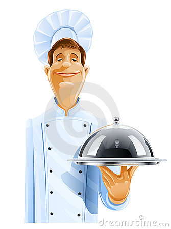 Free Chef Cook With Tray And Lid Stock Images - 20065674