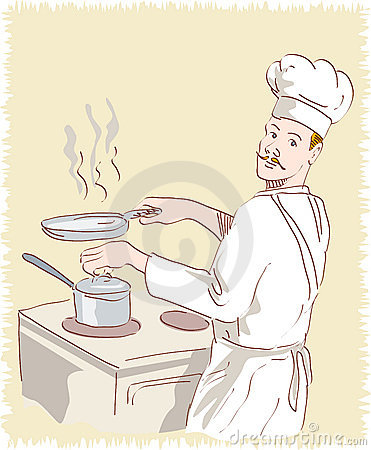 Chef cook at work