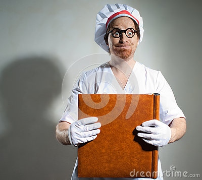 Chef with the cookbook