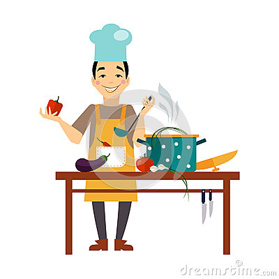 Free Chef Cooking Food Royalty Free Stock Photo - 55691245