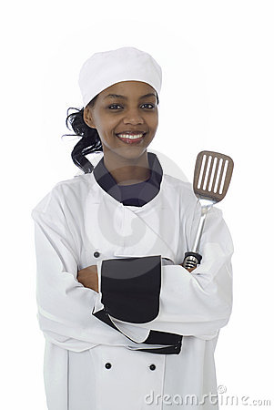 Chef and cooking utensil