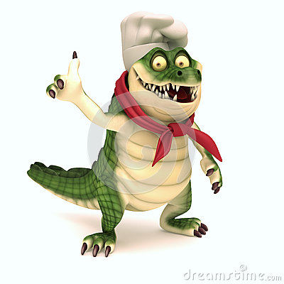 Free Chef Croc Thumb Up Stock Image - 46080721