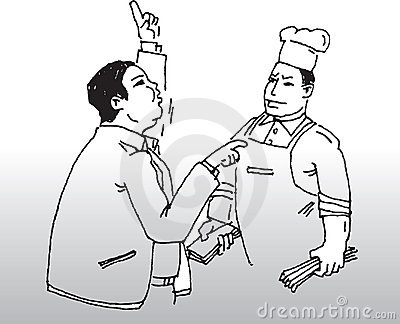 Chef and customer