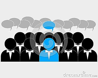 Chef dans le groupe social de media
