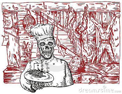 Chef in a dungeon