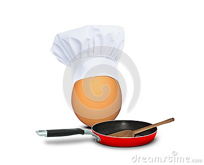 Chef egg ready to cook