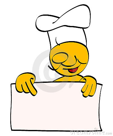 Chef with empty board