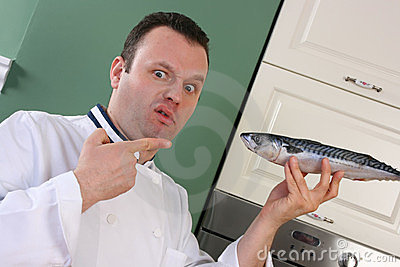 Chef and fish