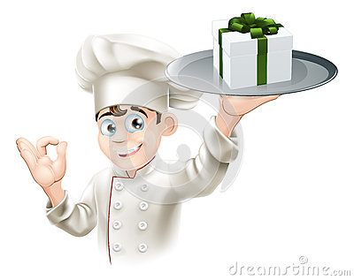 Chef giving gift