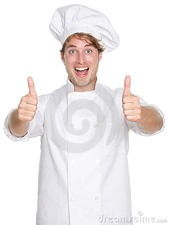 Free Chef Happy Thumbs Up Royalty Free Stock Photography - 23356097