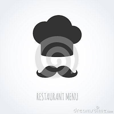 Free Chef Hat And Mustache Abstract Vector Icon. Stock Image - 47699551