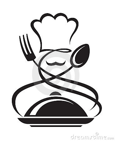 Chef Hat With Spoon And Fork Stock Image - Image: 24019791