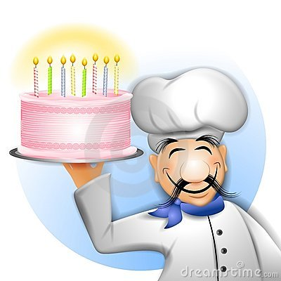 Chef Holding Birthday Cake