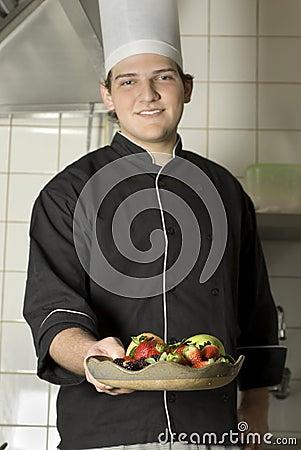 Chef Holding Fruit