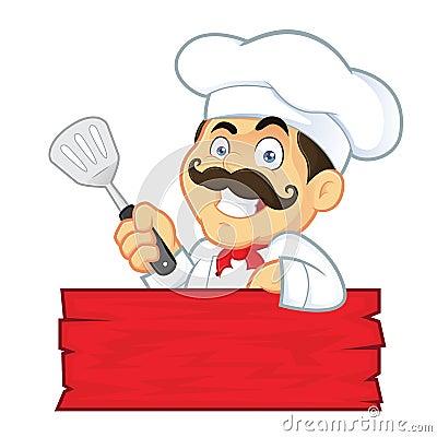 Free Chef Holding Spatula Stock Image - 37349611