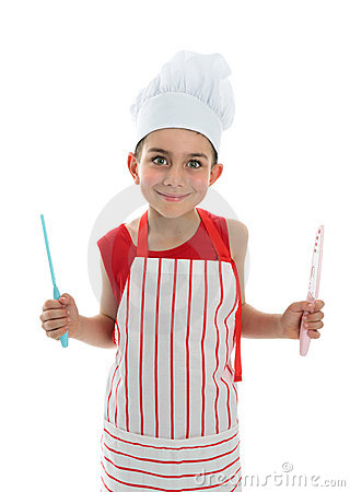 Chef holding two knives