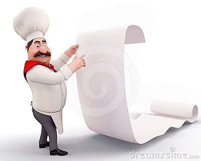 Chef with a huge bill