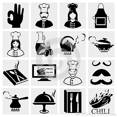 Chef icons set