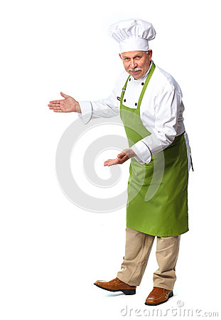 Free Chef Inviting In Restaurant. Stock Images - 35553584